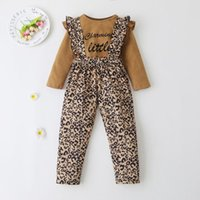 Clothing Sets 6M-4T Toddler Kids Baby Girls Solid Long Sleeve Bodysuit Top Sunflower Suspender Pants Headband Autumn Outfit Clothes Set