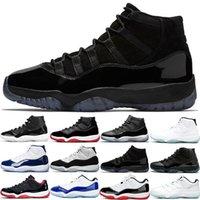 Высококачественные баскетбольные туфли 11s Мужчины женщины 11 25-летие Concord Cap и платье UNC Gamma мужские женские тренажеры спортивные кроссовки