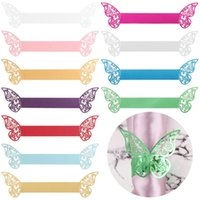 Napkin Rings 10Pcs Home Decoration DIY Convenient Festival Accessories Paper Ring Disposable Towel Buckle Butterfly Style