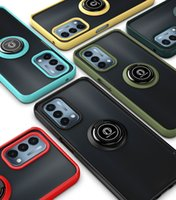 Armor Cases For Oneplus Nord N10 N100 N200 5G Hard Case Car Holder Silicon Magnetic Ring Soft TPU Skin Gel Cover