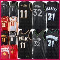 رجال الصغير 11 شاب كرة السلة جيرسي كارل أنتوني 32 بلدة أنتوني 1 إدواردز كيفن 21 Garnett Spud 4 Webb MinnesotaTimberwolves.أتلانتاهوك