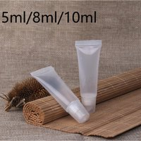 50pcs 5ml 8ml 10ml Empty Plastic Lip Balm Soft Tubes Homemade Ointment Lipstick Containers DIY Squeezable Cosmetic Cream Bottles