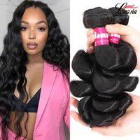 Paquetes de pelo de onda suelta brasileña Onda suelta brasileña Extensiones de cabello humano indio peruano Malasia Ola suelta Virgin Hair 3/4 Bundles