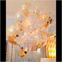 Decorazione evento festivo casa giardino goccia consegna 2021 paillettes in lattice riempita da 12 pollici palloncini trasparenti novità bambini giocattoli Bella nascita