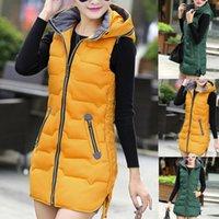 Women's Vests Sleeveless Jacket Women Winter Warm Cotton Padded Gilets Parkas Black Outerwear Ladies Puffer Female Coats Bodywarmer