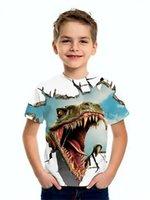 2021 Dinosaur World 3D Print T-Shirts Children Kids Streetwear Funny Cartoon Animal Tees Tops Boys Girls Sportswear Fashion T Shirt Harajuku Clothing