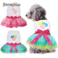 Benepaw mode petite robe de chien mignon confortable coeur lèvre imprimé princesse chiot vêtements d'animal de compagnie d'été printemps fête vacances
