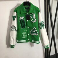 Winter designer women jacket coat letter logo embroidery baseball uniform high-end long sleeve hoodie coats Louisclothes brand casual clothes womens wholesale