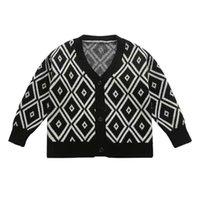 Pulôver 3-10yrs meninos roupas knitwear diamante diamante decote em v botão meninas de malha casacos outono primavera casual crianças outerwear tops