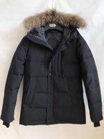 2020 Nuevo Estilo de Canadá Mens Real Duck Down Abrigo grueso Abrigo Impermeable WindstPper Invierno Cálida Carson Parka Mapache Fur