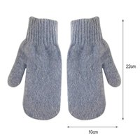 Cycling Gloves 1 Pair Double-layer Hair Female Winter Korean Version Of Solid Color All Fingers Women Girls Mittens