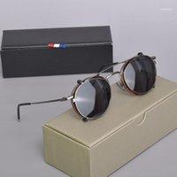 Moda occhiali da sole Cornici Brand Thom EyeGlasses TB710 Anti Blue Lettura Myopia prescrizione Polarized Clip Glasses Uomo Donna con scatola11
