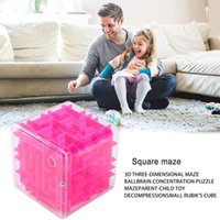 Toy 3D Maze Six-sided Speed Cube Transparent Rolling Ball Game Track Children's Educational Gift
