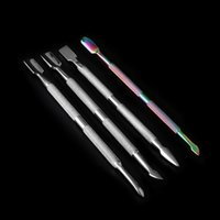 DHL!!! Beracky Two Styles Rainbow Stainless Steel Smoking Dabber Tool Heady Titanium Dab Tools For Quartz Banger Nails Glass Water Bongs Oil Rigs