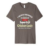 Dame de poulet drôle - Crazy Chickens Farm Farm Cover T-shirt Premium