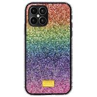 İphone renk cep telefonları için kılıflar gradyan glitter xr basit ve şık telefon kılıfı
