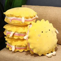 Pillow Sandwich Biscuits Watermelon Throw Quilt Nap Blanket Office Car Travel Backrest Cushion Air Conditioning
