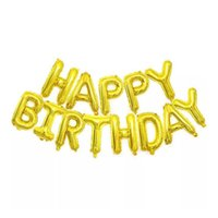Birthday Wedding Party Decoration 16 Inches Aluminum Film Material Letter Birthday-Balloons Children Room Decorative Balloon;Many Colors Available DHL