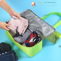 حار المحمولة في الهواء الطلق مزدوج الطابق الحراري معزول الغداء مربع حمل برودة حقيبة bento الحقيبة حقائب تخزين السفر HWD7235