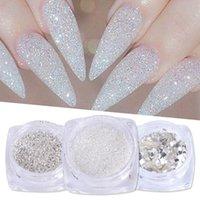 Tırnak Glitter 1G Sanat Sequins 3D Altın Gümüş Altıgen Sparkly Flakies Manikür için Rhinestone Sandy Tozu Tozu JIS01-04-1