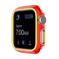 حافظة من طلاء ثنائي اللون ل Apple Watch 6 Series SE / 5/4/3/2 1 واقية غطاء رقيقة مضادة للسقوط ل iWatch 44 / 40mm 42 / 38mm Bumpe