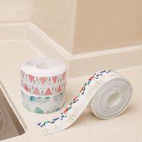 Wall Stickers 3.2mx38mm PVC Self-adhesive Bathroom Shower Sink Bath Sealing Strip Tape Super Glue Waterproof Sticker For Kitchen