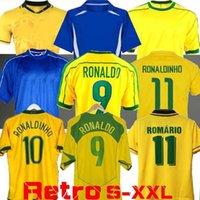 1998 Brasil Soccer Jerseys 2002 Retro Camicie Carlos Romario Ronaldo Ronaldinho 2004 Camisa de Futebol 1994 Brazils 2006 1982 Rivaldo Adriano 1988 2000 1957