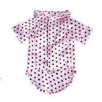 Petit manteau Vêtements de vêtements Pierre Chiot Pyjamas Noir Filles Rose Poodle Bichon Teddy Vêtements Chemise de Noël Bulldog Shirts Hiver DWE8181