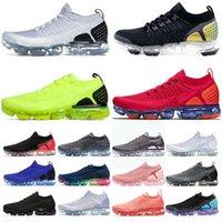 Ayakkabı Nike Air Vapormax Flyknit 2 Vapor Max Airmax Vapourmax Erkek Kadın Koşu Ayakkabısı Üçlü Siyah Beyaz Kırmızı Altın Gerçek Volt Mor Ol Spor Ayakkabıları Eğitmenler
