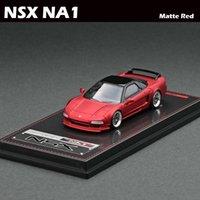 1/64 모델 자동차 Ig Honda NSX NA1 다이 캐스트 컬렉션 진주 화이트 / 매트 레드 장난감