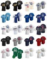2021 Jerseys de béisbol Mookie 50 Betts Jersey Kris Bryant Kyle Seaver Matt Chapman Max Scherzer Miguel Cabrera Mike Trout Steinsted