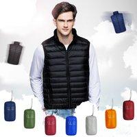 Outono e inverno homens à prova de intempéries embalagens para baixo colete 2021 homens casaco casaco preto roupas leves ao ar livre