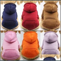 Pet Home & Gardenhooded Pockets Sweater Small Dog Apparel Hoodies Coat Pocket Jackets With Sleeve Dogs Outside Travel Winter Warm Clothes Pe