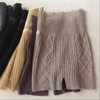 Cintura cálida mujeres Leggings cortos de lana Pantalones cortos para mujer Otoño e invierno Grueso alto Suéter sin fisuras pantalones