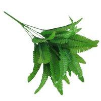 شوكة 1 قطعة زهرة الاصطناعي الديكور السرخس محاكاة 14 يترك باقة diy الأخضر الترتيب الرئيسية النباتات الفارسية مكتب الزهور الزخرفية