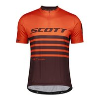 Atmungsaktiv Radfahren Kurzarm Jersey Herren Scott Team Sommer MTB Bike Hemd Outdoor Sportswear Schnell trockene Straße Fahrrad Tops Rennkleidung Y21040955