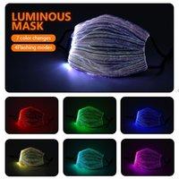 Maschera luminosa di moda con PM2.5 Filtro filtro Led Maschere per viso LED per il festival di Natale Festival Masquerade Decorazione rave HWA7883