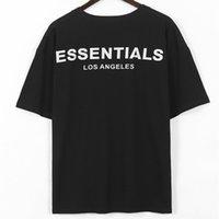 20ss Hip Hop Trend La Los Angeles Sınırlı 3 M Yansıtıcı Mektup F O G Erkek Ve Kadın Kısa Kollu T-Shirt Li91