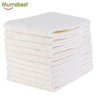 [MUMMS] 10PC Pure Bamboo Inserts de la couche de couche lavable réutilisable Inserts de couches Lames écologiques de la couche pour bébé Eco-respectueux de l'environnement Booster 210727