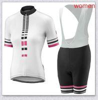 Summer Womens Liv Pro Team Cycling Jersey Babero Babero Pantalones cortos Gel Pad Suit Ropa de Ciclismo Maillot Bike Wear Bicycle Ropa Set Y210409100