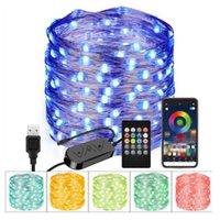 Dizeleri Noel Ağacı Dekorasyon LED Dize Işıkları Kablosuz Kişiselleştirilmiş RGB Özelleştirilmiş Uygulama Uzaktan Kumanda Partisi