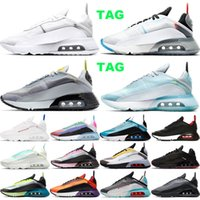 Nike air max 2090 2090s Nuevo llegan zapatos para correr Joyride para hombres mujeres Plantinum Tinte Oreo triples negros blancos INVICTO zapatillas de deporte entrenador