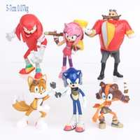 Super Sonic 6 4-Generation SuperSonic Mouse Series Superhero Micro المشهد اليدوية دمية 5yym