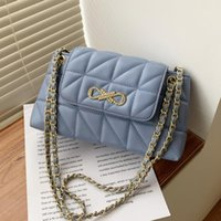 Evening Bags Color Quilted Chain PU Leather Solid Crossbody For Women 2021 Fashion Small Shoulder Bag Female Handbags And Purses