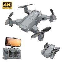 KY905 Mini Drone 4 K HD Kamera Profissional Wifi Gerçek Zamanlı Şanzıman FPV Beni Takip et Katlanabilir RC Quadrotor Oyuncak Dron 210928