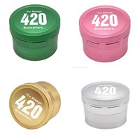 Aircraft Aluminum Alloy Grinder 420 Logo bag Herb Grinders for Dry Herbal Smoking Tools 4 Layers 63mmBlack/Gold/Silve 5 colors to choose