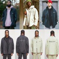 Двойные мужские куртки трек туманный туманный куртка ветровка повседневное пальто заводской заводской розетки 2021 Мужская страх богословного одежды Essentials сезон 7 02 y1ws #