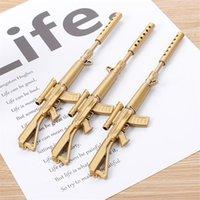 Gel Pens Kawaii Rollerball Pen Writing School Supplies Papelaria Creative Gold Silver Machine Gun Ballpoint Stationery