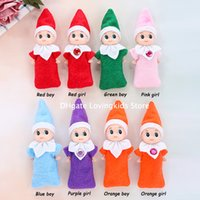 Free DHL 100 PCS Christmas New Year Gifts Baby Elf Doll Toy Baby Elves Dolls Childrens Toys Baby Mini Doll 8 Colors In Stock