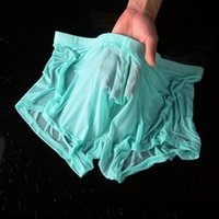 Underpants Men's Underwear Thin Ice Silk Section Sexy Transparent Waist Personality Male